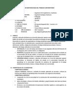 Sílabo de Metodología Del Trabajo Universitario