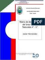 Desempeños Ciencias Naturales 4-5