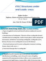 Lec 1 Design of Rc Structures for Lateral Loads
