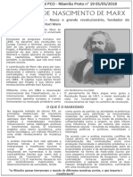 Panfleto sobre os 200 anos de Marx