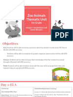 zoo aminals- thematic unit