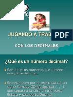 JUGANDO  CON DECIMALES. 5° Año