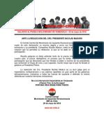 Saludos Al Pueblo Bolivariano de Venezuela - 20 de Mayo de 2018