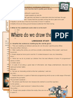 Where Do We Draw the Line Reading Comprehension Exercises Sentence Transform 46960