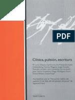 Clinica, Pulsión, Escritura - Juan Carlos Cosentino (Comp.)