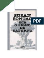 SONTAG, Susan - Sob o Signo de Saturno