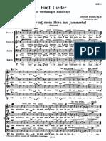 Brahms - Ich Schwing Mein Horn Ins Jammertal