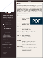 Single page effective modern resume