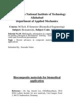 Biocomposite Material for Biomedical Application