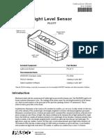 Ps 2177 Pasco Pasport Light Level Lux Sensor Manual