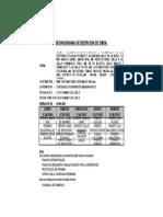 Cronograma Recepcion de Obra v&v Ccgg