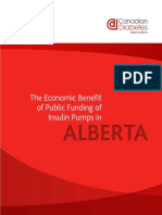 Economic Benefit of Public Funding for Insulin Pumps in Alberta