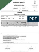 Certificado Control Calidad Compresion Fondo Losa