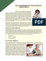 Cuidados de Enfermería en El Paciente Geriátrico