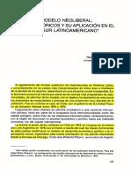 Pedro Talavera - El Modelo Neoliberal