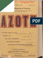 Azoth, August 1919