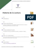 Historia de La Lectura