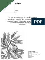 La Traduccion de Los Culturemas - Björklund