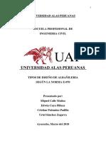 Tipos de Diseño - Albañileria