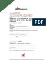 Association de Cellules de Commutation - Éléments de Synthèse Des Convertisseurs Statiques