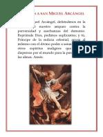Oración a San Miguel Arcángel Imagen(A5)