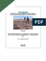 Investigacion Geofisica Con Georadar Sector Crater Del Meteorito en Carancas