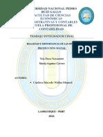 Trabajo Integrador Final - Realidad e Importancia de Las Mypes (Proyección Social)