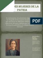 Grandes Mujeres de La Patria 1