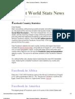 More Facebook Statistics - Newsletter 058