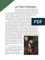 francisco pizarro biography