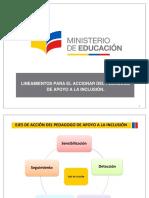Lineamientos Para El Accionar Del Pedagogo de Apoyo a La Inclusión PPT