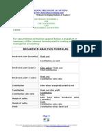BreakEven Formulas.pdf