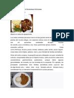 Historia de La Gastronomia Peruana