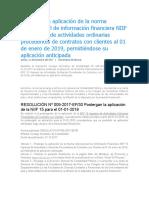 Postergan la aplicación de la norma internacional de información financiera NIIF 15 ingresos de actividades ordinarias procedentes de contratos con clientes al 01 de enero de 2019 (1).docx