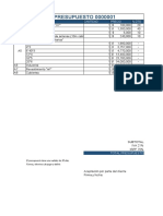 Plantilla Presupuesto Comercial