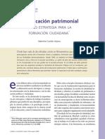 La Educación Patrimonial Como Estrategia de Formación Ciudadana