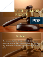 Article III 2013 Bill of Rights - Atty. Pojas