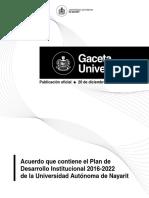 Plan de Desarrollo Institucional 2016