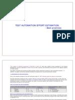 Test Automation Effort Estimation