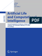 Artificial Life and Computational Intelligence-ALCALCI 2106
