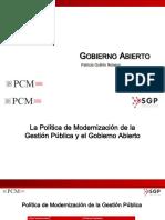 Gobierno Abierto Patricia Guillen