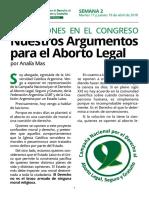 Nuestros Argumentos para el aborto legal
