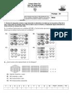 Evaluación numerales cuarto basico