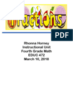 fraction instructional unit