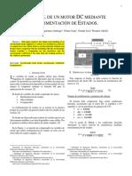 Control de Un Motor DC Mediante Realimentación de Estados