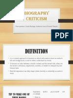Biography Criticism