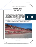 Estudio de preinversion I.E Mariscal Luzuriaga, Ancash