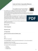 Commentcamarche.net-Accès Au Gestionnaire de Fichier ImpossibleRésolu