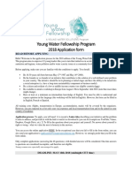 Young Water Fellowship Program - Application Form