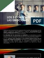 Los  tres componentes de Las Emociones